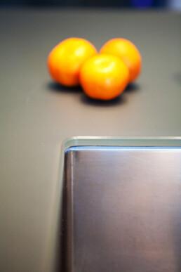 Glazen werkblad keuken