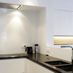 Glazen spatwand keuken - Keukenglas